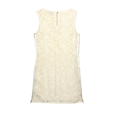 lace sleeveless dress ivory